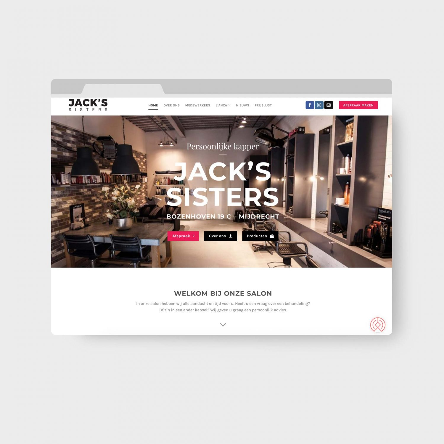 Jacks Sisters Website - WordPress Webdesigner Uithoorn